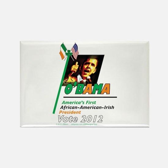 O'Bama Af-Am-Ire Rectangle Magnet