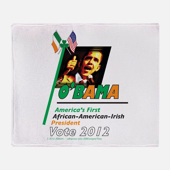 O'Bama Af-Am-Ire Throw Blanket