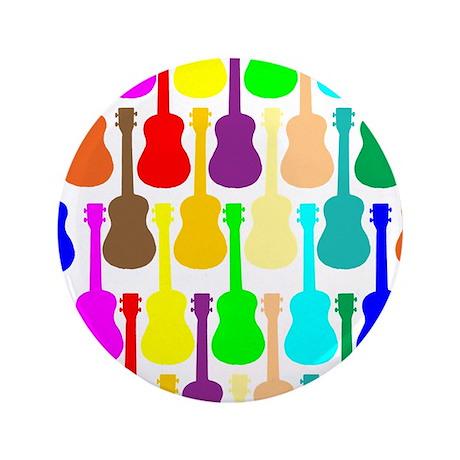 """Rainbow Ukulele 3.5"""" Button (100 pack)"""
