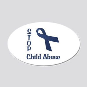 Stop Child Abuse 22x14 Oval Wall Peel