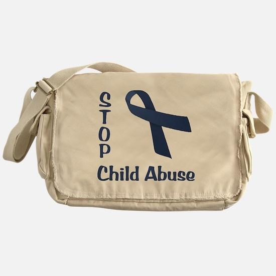 Stop Child Abuse Messenger Bag