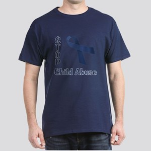 Stop Child Abuse Dark T-Shirt