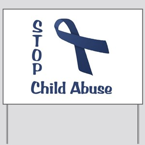 Stop Child Abuse Yard Sign