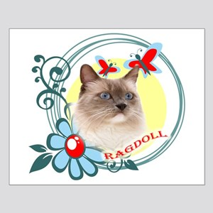 Ragdoll Wild Flowers & Butter Small Poster