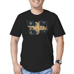 Quebec Flag Men's Fitted T-Shirt (dark)