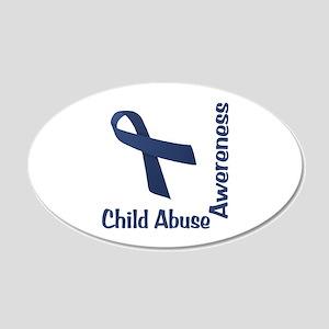 Child Abuse Awareness 22x14 Oval Wall Peel