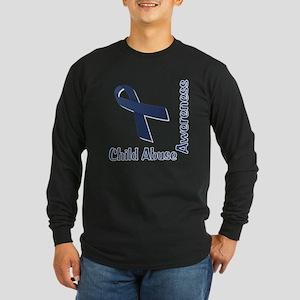 Child Abuse Awareness Long Sleeve Dark T-Shirt