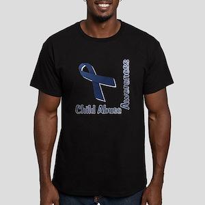 Child Abuse Awareness Men's Fitted T-Shirt (dark)