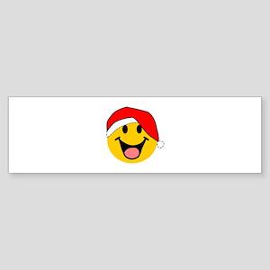 Santa Smiley Sticker (Bumper)