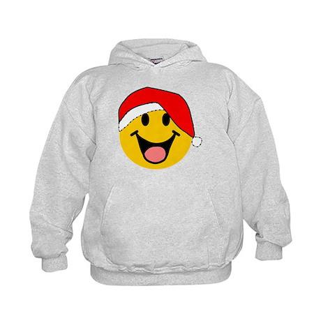 Santa Smiley Kids Hoodie
