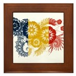 Romania Flag Framed Tile