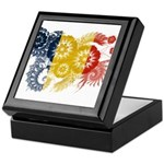 Romania Flag Keepsake Box