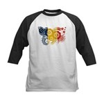 Romania Flag Kids Baseball Jersey