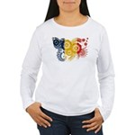 Romania Flag Women's Long Sleeve T-Shirt
