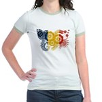 Romania Flag Jr. Ringer T-Shirt