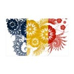 Romania Flag 38.5 x 24.5 Wall Peel