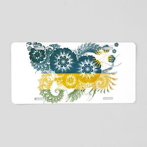 Rwanda Flag Aluminum License Plate