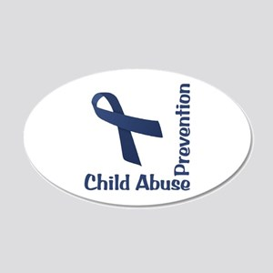 Child Abuse Prevention 22x14 Oval Wall Peel