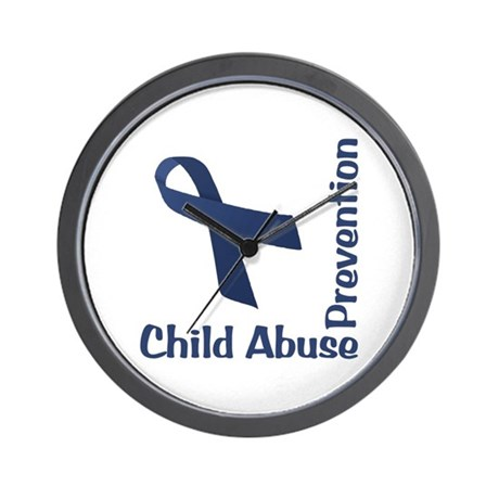 Child Abuse Prevention Wall Clock
