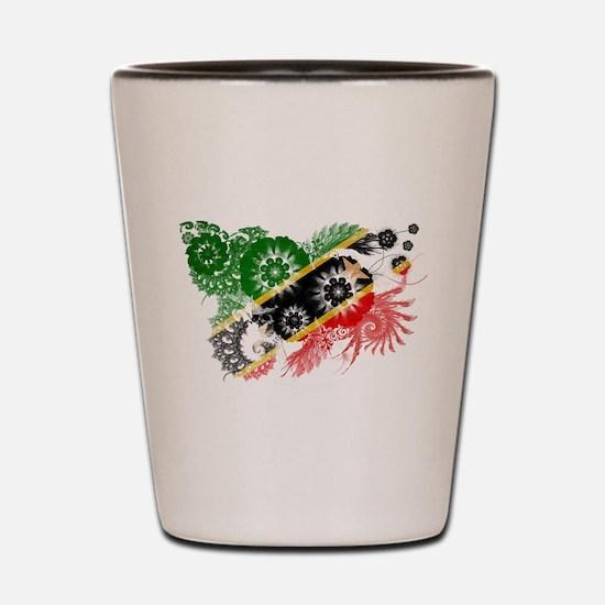 Saint Kitts Nevis Flag Shot Glass