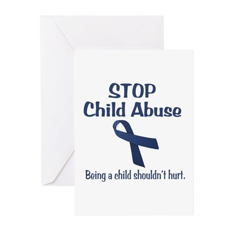 Stop Child Abuse It Hurts Greeting Cards (Pk of 20