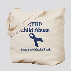 Stop Child Abuse It Hurts Tote Bag