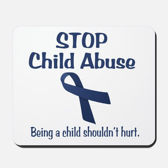 Stop Child Abuse It Hurts Mousepad