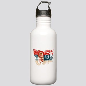 Serbia Flag Stainless Water Bottle 1.0L