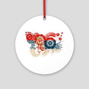 Serbia Flag Ornament (Round)