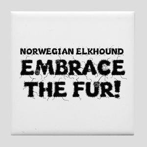 Norwegian Elkhound Tile Coaster