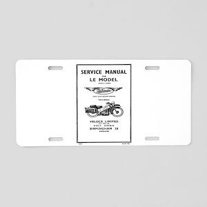 Velocette LE Aluminum License Plate