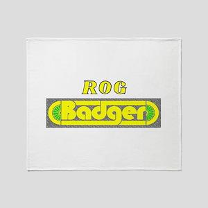 Rog Badger Throw Blanket