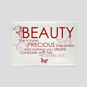 Beauty Rectangle Magnet