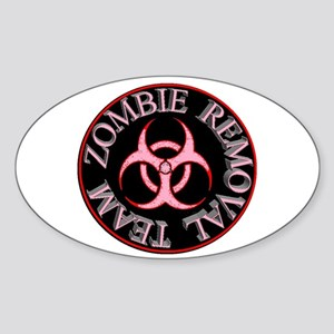 Girl Zombie Removal Team Sticker (Oval)