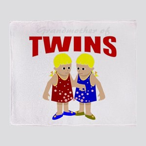 Grandmother of twins Throw Blanket
