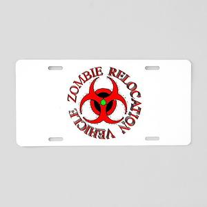 Zombie Response Vehicle Aluminum License Plate