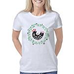 Folk Art Christmas Bird Women's Classic T-Shirt