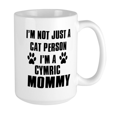 Cymric Cat Design Large Mug