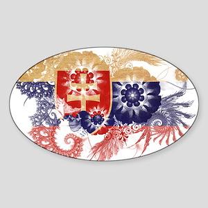 Slovakia Flag Sticker (Oval)