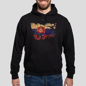 Slovakia Flag Hoodie (dark)