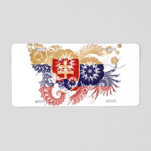 Slovakia Flag Aluminum License Plate