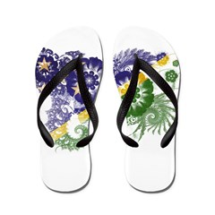 Solomon Islands Flag Flip Flops