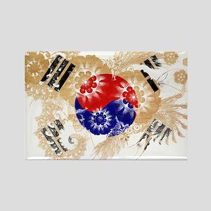 South Korea Flag Rectangle Magnet