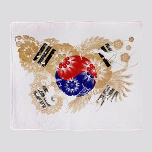 South Korea Flag Throw Blanket
