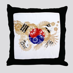 South Korea Flag Throw Pillow