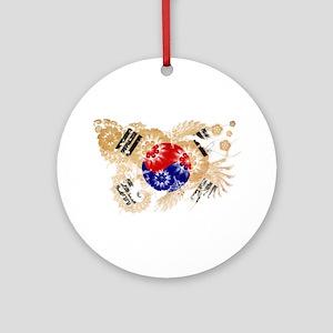South Korea Flag Ornament (Round)