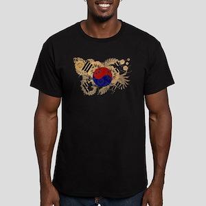 South Korea Flag Men's Fitted T-Shirt (dark)