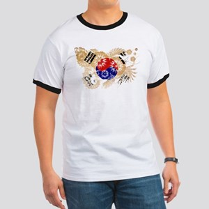 South Korea Flag Ringer T