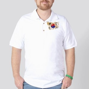South Korea Flag Golf Shirt
