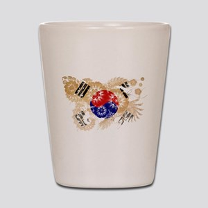 South Korea Flag Shot Glass